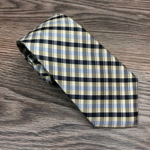 Jos A Bank 1905 Yellow, Blue & Navy Plaid Tie